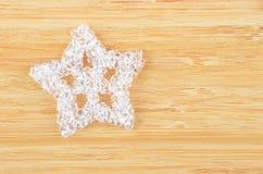 Decorative plastic snowflake Stock Photos