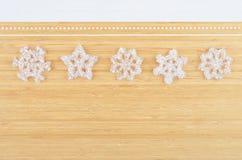 Decorative plastic snowflake Royalty Free Stock Photos