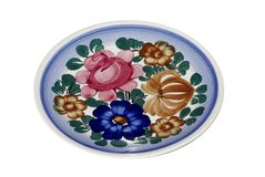 Decorative plate. Porcelain hand-painted decorative plate Royalty Free Stock Photo
