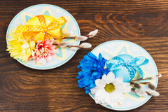 Decorative plate with Easter egg Stock Image