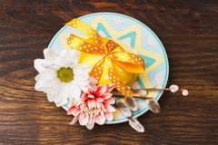 Decorative plate with Easter egg Stock Photography