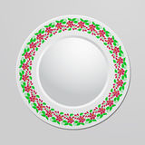 Decorative plate with floral ornament Stock Images