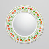 Decorative plate. With floral ornament for interior design. Home decor. Vector illustration for your design royalty free illustration