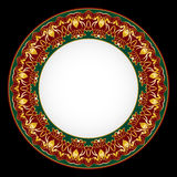 Decorative plate with ornament Royalty Free Stock Photo