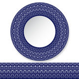 Decorative plate with a pattern Royalty Free Stock Images