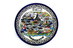 Decorative Plate with Picture Stock Image