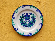 Decorative plate, pottery Fajalauza, Granada, Andalusia, Spain Royalty Free Stock Image