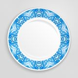Decorative plate, top view. Royalty Free Stock Images