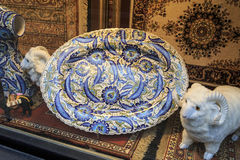 Decorative plate - window display ,Istanbul, Turkey. Royalty Free Stock Images