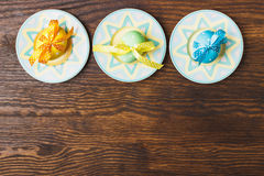 Decorative plates with Easter eggs Stock Image