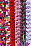 Decorative Pom-Poms As Background Texture Stock Images