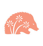 Decorative Porcupine Royalty Free Stock Images