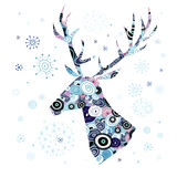 Decorative portrait of deer Royalty Free Stock Images