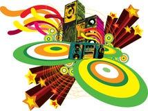 Decorative poster design Stock Image
