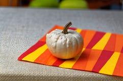 Decorative pumpkins for festive table decoration Stock Image