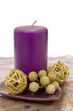 Decorative Purple Candle Royalty Free Stock Images