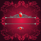 Decorative Purple Ornate Baner Stock Photos