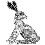 Decorative Rabbit, Easter Bunny. Hare. Vector illustration Royalty Free Stock Photo