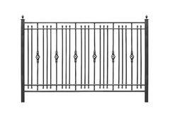 Decorative railing, banisters. Decorative railing, banisters in old style. Isolated over white background vector illustration
