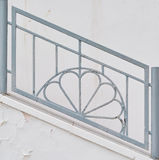Decorative railing on the stairs Royalty Free Stock Photos
