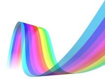 Decorative rainbow wave. Illustration of decorative rainbow colored wave isolated on white background Stock Photography