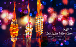 Decorative Rakhi for Raksha Bandhan background Stock Photo