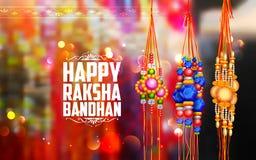 Decorative Rakhi for Raksha Bandhan background Royalty Free Stock Photography