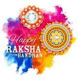 Decorative Rakhi for Raksha Bandhan background Stock Images
