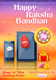Decorative rakhi for Raksha Bandhan sale promotion banner Royalty Free Stock Image
