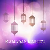 Ramadan Kareem background with hanging lanterns. Decorative Ramadan Kareem background with hanging lanterns Stock Image