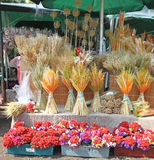 Decorative reap on the market. Didukh is a Ukrainian traditional symbol - a decorative reap made out of wheat ears, which encourages harvest. After harvest Royalty Free Stock Images