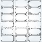 Decorative rectangle frames and borders set vector Stock Image
