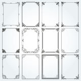 Decorative rectangle frames and borders set 2 vector Stock Images