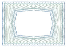 Decorative rectangular frame Stock Image