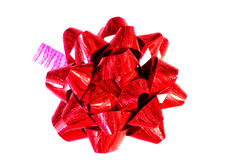 Decorative red bow Royalty Free Stock Photo