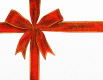 Decorative red bow Stock Photo
