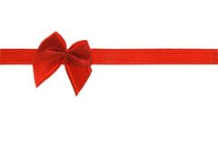 Decorative red bow ribbon Royalty Free Stock Photography