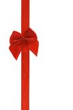 Decorative red bow ribbon Stock Photo
