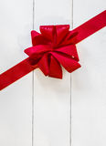 Decorative red bow Stock Photos