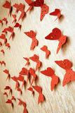 Decorative red butterflies Stock Images