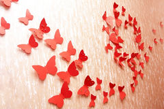 Decorative red butterflies Royalty Free Stock Photos