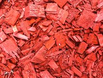 Decorative red chips bark of trees. Studio Photo Royalty Free Stock Photography