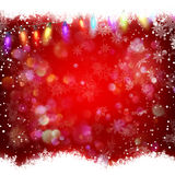 Decorative red christmas background. EPS 10 Royalty Free Stock Photo