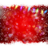 Decorative red christmas background. EPS 10. Vector file included Stock Images