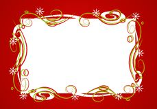 Decorative Red Christmas Frame Stock Image