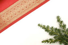Decorative red christmas material Stock Photos