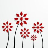 Decorative Red Flowers. Creative Abstract Decorative Red Flowers vector illustration Stock Photo