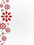 Decorative Red Flowers Royalty Free Stock Images