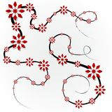 Decorative Red Flowers. Creative Abstract Decorative Red Flowers vector illustration Royalty Free Stock Photos