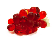 Decorative red grapes from glass Royalty Free Stock Image